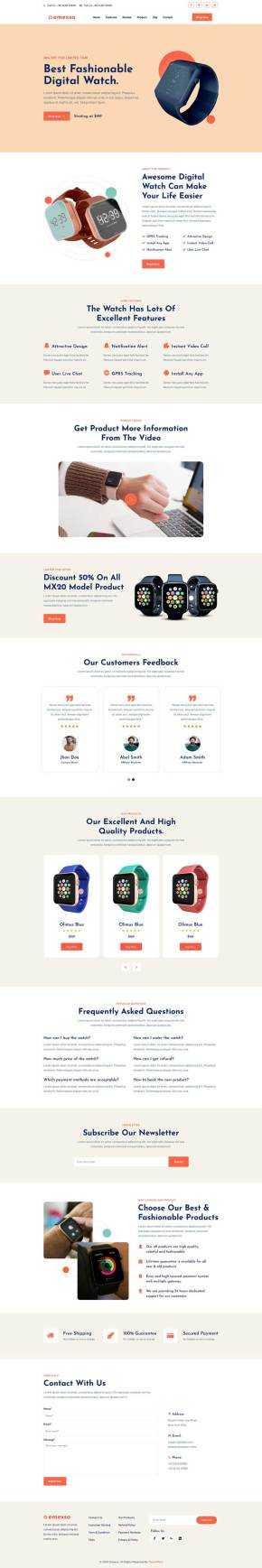 数码产品展示介绍单页模板