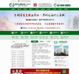 【源码已测试】绿色的男子医院企业网站静态模板 男科医院网站HTM
