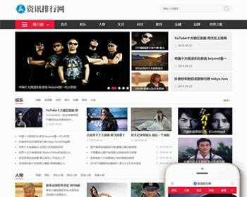新闻资讯排行网类网站织梦模板(带手机端