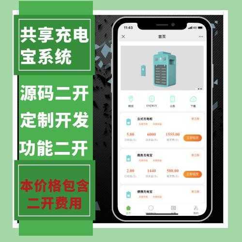 【迅炎软件】(包含二开费用)共享云充电宝挂机赚钱系统(承接: