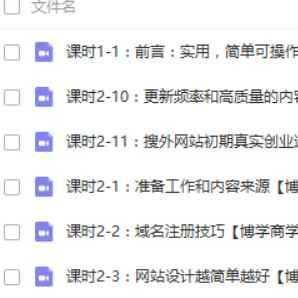 夫唯网站seo优化培训视频教程 24节