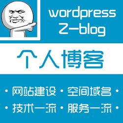个人博客搭建个人网站制作建站个人博客设计WP模版自媒体程序