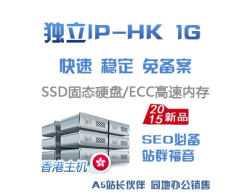 独立IP-1G空间,仅145元/年,香港优质高速机房支持Asp/Php/Net等送数据库