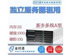 国内BGP多线-独立服务器主机租用-双核内存:4G-硬盘:200G-10G硬防