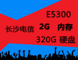 长沙电信 E5300 2G/4G 游戏网站服务器