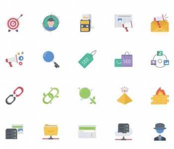 精品互联网SEO优化主题图标素材